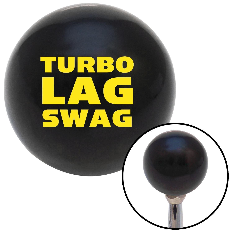 Yellow Turbo Lag Swag American Shifter 110588 Black Shift Knob with M16 x 1.5 Insert