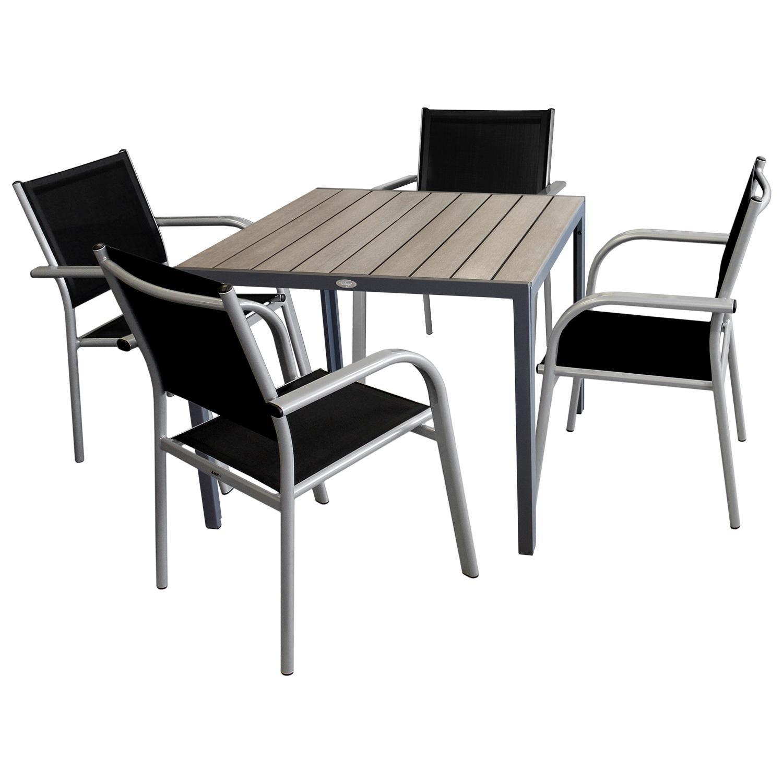 5tlg Gartenmöbel Balkonmöbel Bistro Set Sitzgruppe Gartentisch