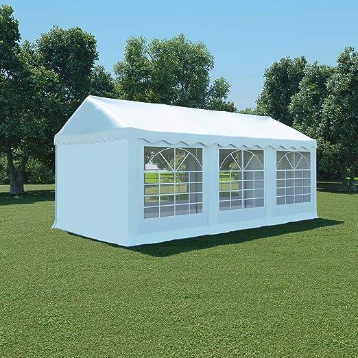 Xingshuoonline Cenador Plegable Carpa de Jardín de PVC 3x6 m Blanco Cenadores con 3 Ventanas a Cada Lado: Amazon.es: Jardín