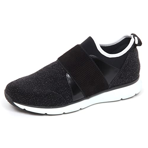 E4842 sneaker donna tissue HOGAN H254 nero scarpe star dust slip on shoe woman