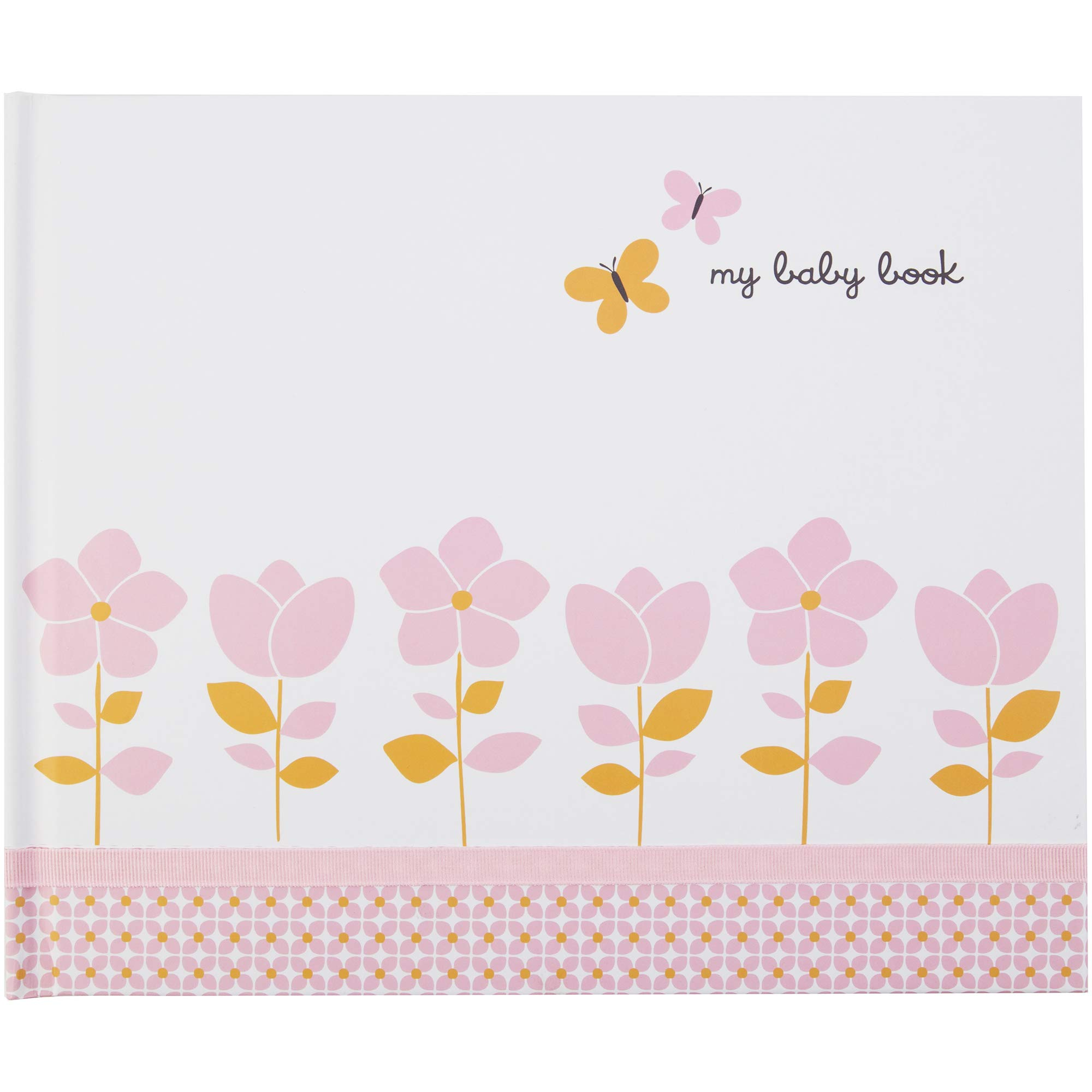 C.R. Gibson Baby Memory Book For First 5 Years Carter's Blossom 72 Pages Best Baby Books For Girls Boys Infants