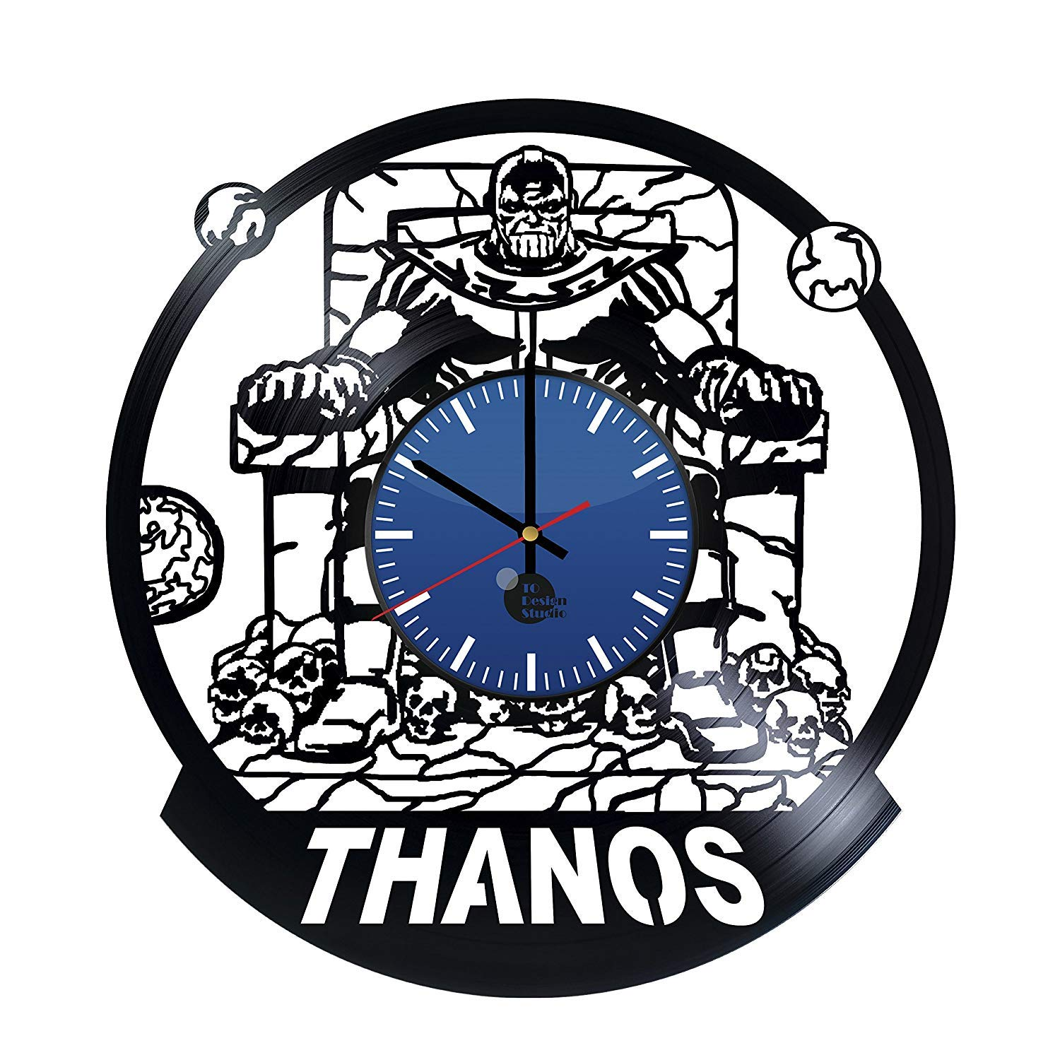 Thanos Comic Handmade Vinyl Record Wall Clock - Get Unique Home and Office Wall Decor - Gift Ideas for Boys and Girls – Thanos Marvel Unique Art Design - Leave us a Feedback and Win Your Custom Clock