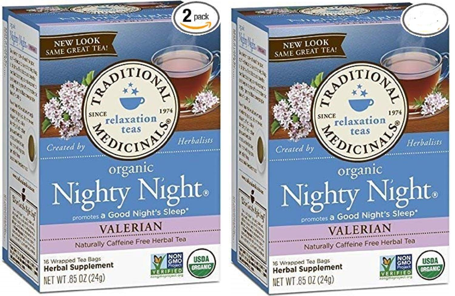 Amazon.com  Traditional Medicinals Nighty Night Valerian Organic Tea  16 Pack (Pack of 2)  Health   Personal Care 2760b1f05