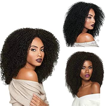 ATOZWIG New Short Black Wigs Afro Kinky Curly Synthetic Wigs For Black Women Natural Cheap Hair