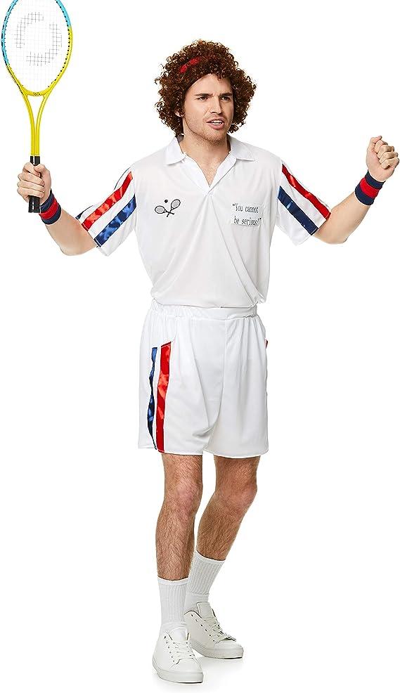Karnival-1980s Tennis Player Kit Disfraz, Color blanco, medium ...