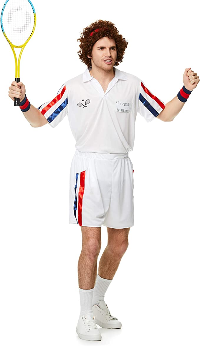 Karnival-1980s Tennis Player Kit Disfraz, Color blanco, extra ...