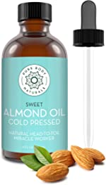 Sweet Almond Oil, 4 fl oz - Cold Pressed and 100%