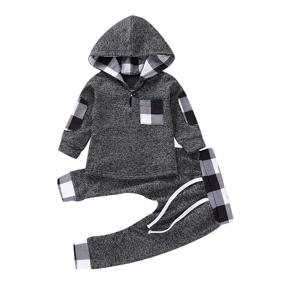 Amazon.com: Sikye 2PCS Baby Girls Boys Long Sleeve Pocket Pullover ...