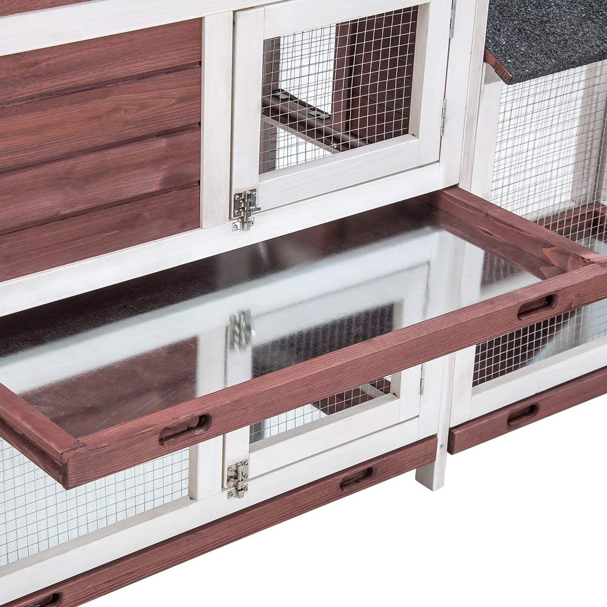 Purlove Pet Rabbit Hutch Wooden House Chicken Coop for Small Animals (Rabbit Hutch #4) by Purlove (Image #5)