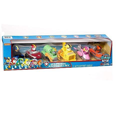 Amazon.com  Spin Master Paw Patrol Sea Patrol 6-Pack Racer Gift Set  Toys    Games 8f6da8511fe5