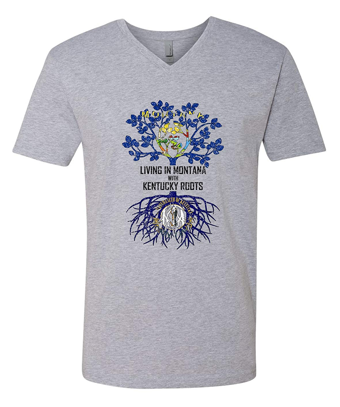 Tenacitee Mens Living in Montana Kentucky Roots T-Shirt