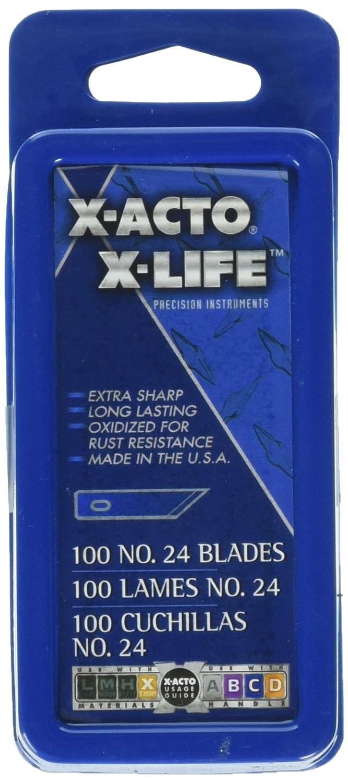 ELMERS Bienfang #24 Blades for X-Acto Knives, Bulk Pack, 100 Per Box/Hunx624 (X624) Cell Distributors