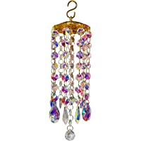 LIUGG Crystal Wind Chimes Colorful Wind Chimes Glass Wind Chimes Happy World Bee Day Ornaments
