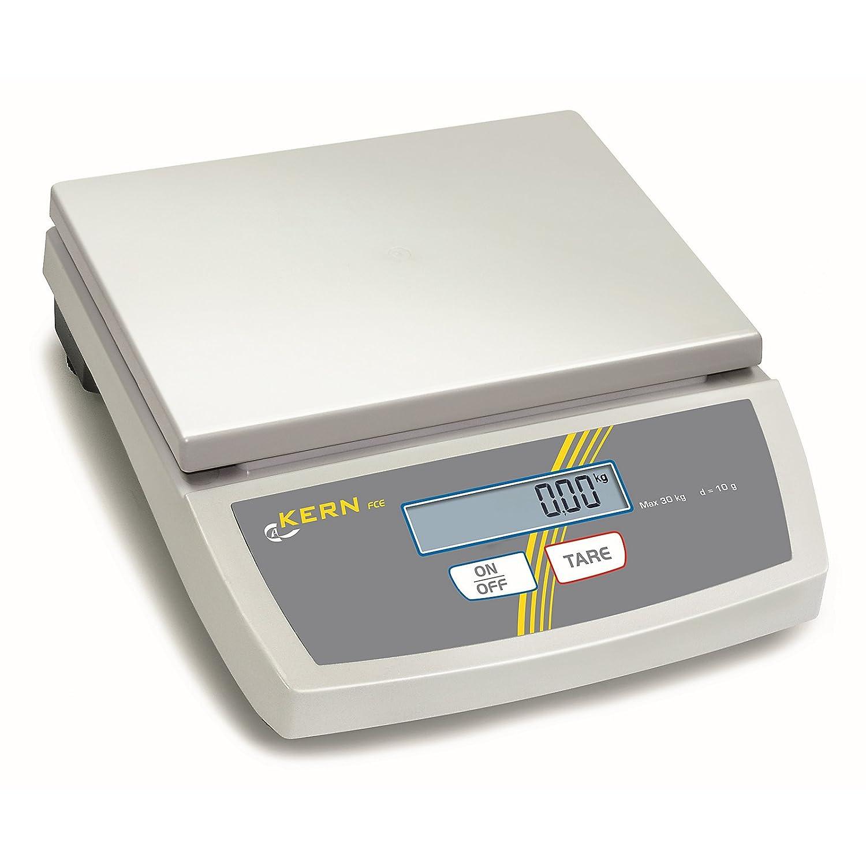 Bilancia da tavolo [Kern FCE 15 K5 N] principianti della Bilancia da tavolo, il, maneggevole, leggero, Portate [Max]: 15 kg, Divisione [d]: 5 G, pesanti: 10 G, linearità : 15 G, Piatto di pesata: LxP 252 X 2