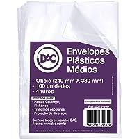 Blister 100 Envelope Médio sem furos, DAC, Blister 100 Envelope Médio sem furos 5078-100, Transparente