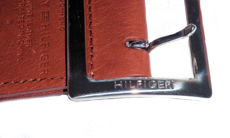 Amazon.com: Tommy Hilfiger Womens Madras Cinturón tela piel ...