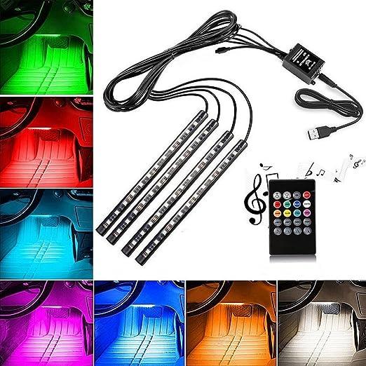 5 opinioni per LED Auto Interni, 4 pc EECOO Luci al neon Interiori automobile di 48 lampade di
