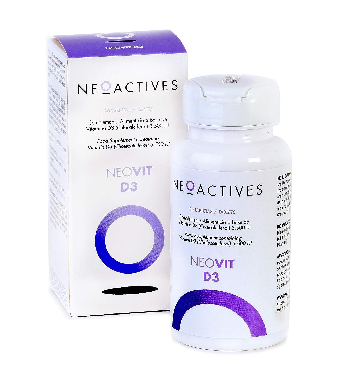 NeoVit D3. 3,500 UI de vitamina D en forma de D3. sistema inmunitario y mantenimiento músculos, huesos y dientes.