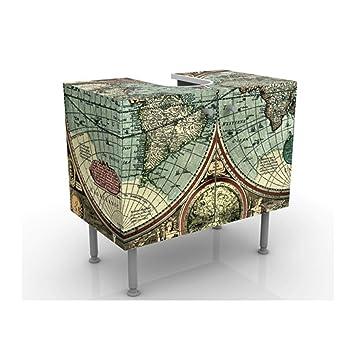 Meuble Sous Vasque Design The Old World 60x55x35cm Petit 60 Cm De