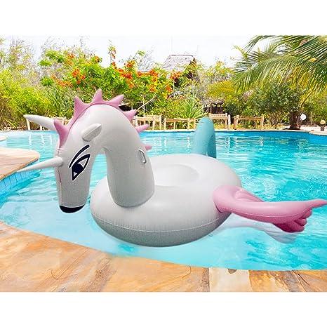 Goolsky Gigante inflable Candy Pegasus Piscina Balsa Verano Piscina Flotador Pool Party Juguetes para adultos y