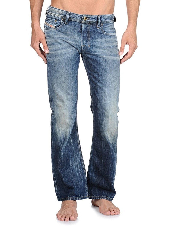 Diesel Mens Zatiny 0803M Bootcut Leg Jeans (26 x 30, Dark Indigo)