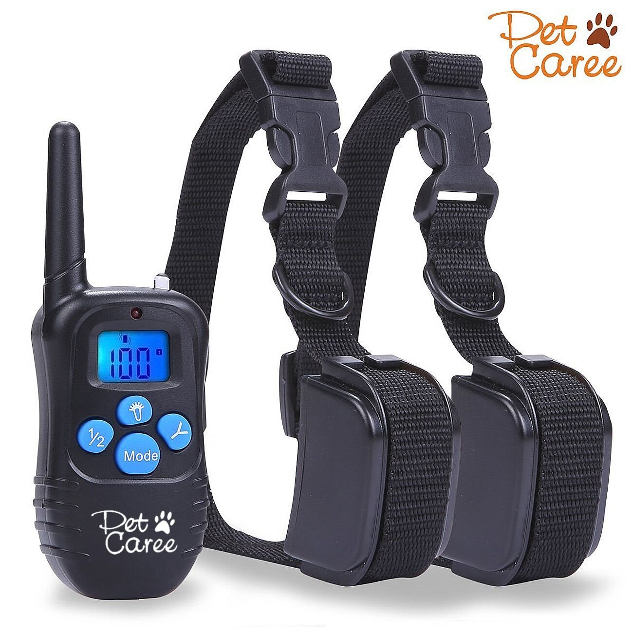 Dog Training Collar Upgraded Sokos LED Backlight Rechargable 330YD Remote Dog
