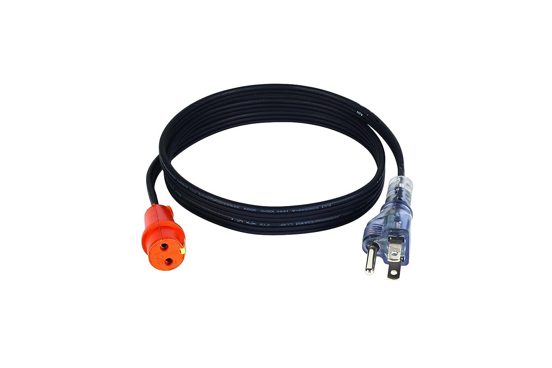 Zerostart 3600119 Lit Plug Cordset for Engine Block Heaters, 5-Feet | 120 Volts Zerostart & Temro