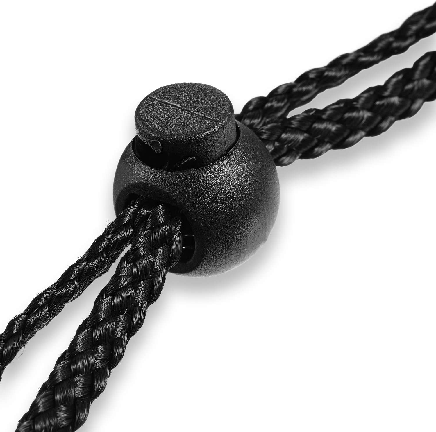 Shoelaces Daily Necessities Clothes 150 Pieces 3 Types Black Spring Plastic Cord Locks End Spring Stop Toggle Stoppers Buttons Fastener Slider Suit for Drawstring Backpack