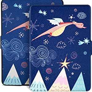 TERSELY Slimshell Case Cover for All-New Kindle Paperwhite 10th Generation-2018 (Model No. PQ94WIF), Smart Shell Cover with Auto Sleep/Wake for Amazon Kindle Paperwhite 10th - Dream