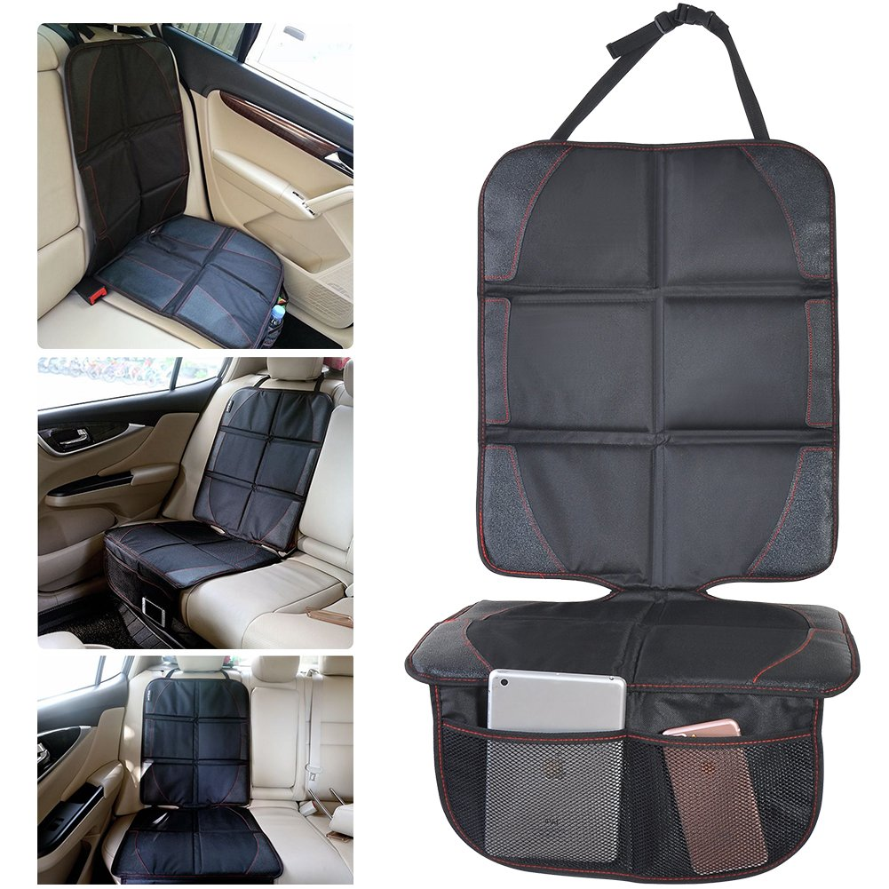 Kingtoys Car Seat Protector With Kick Mat Waterproof And Durable