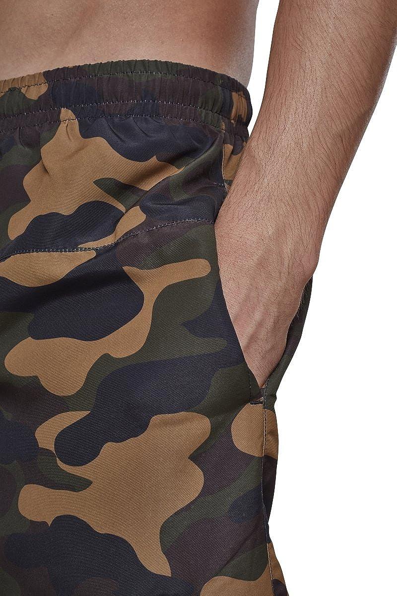 Urban Classics Mens Camo Swimshorts Swim Shirt