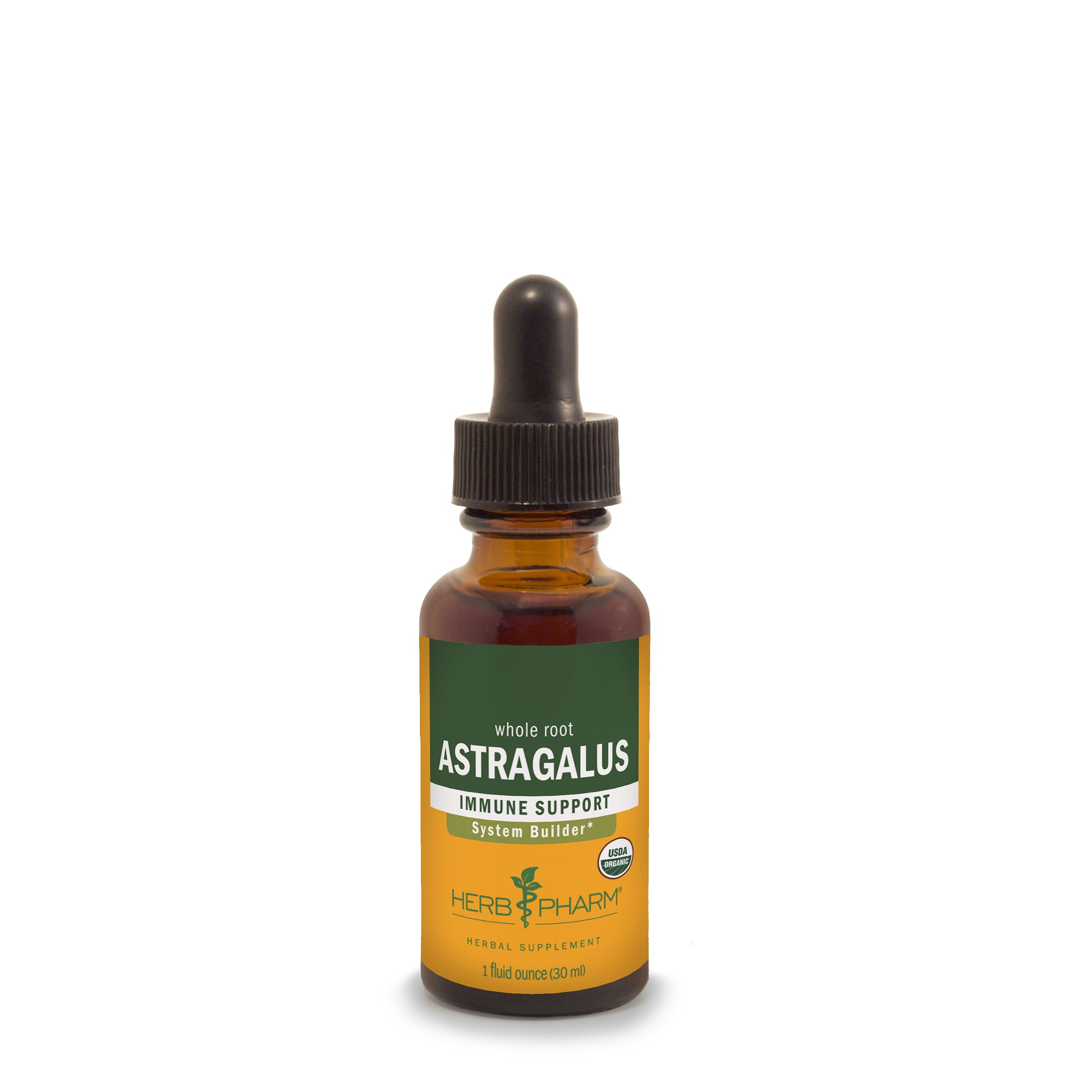 Herb Pharm Certified Organic Astragalus Extract for Immune System Support - 1 Ounce