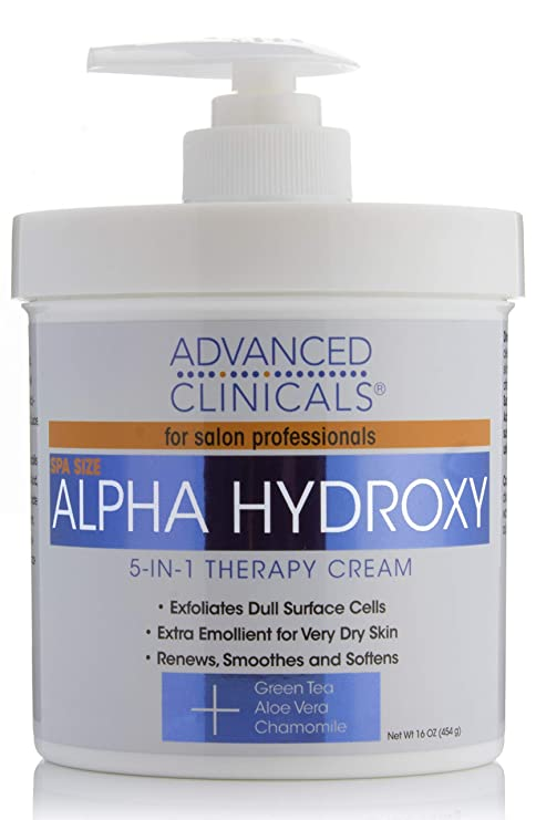 Advanced Clinicals Alpha Hydroxy Acid Cream For Face And Body Health & Beauty 16oz Anti-aging 50% OFF Bath & Body