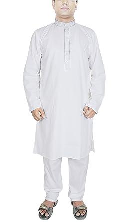 Camisa traje hombre pijama color blanco manga larga algodón ...