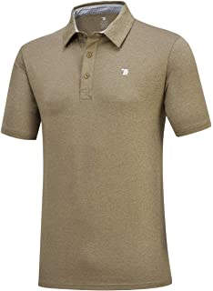 f9ea60551 JINSHI Men's Athletic Loose Performance Fit Short Sleeve Classic Golf Polo  Shirt