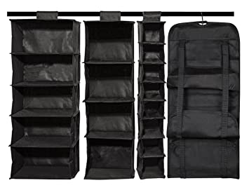 Ordinaire STORAGE MANIAC Large Hanging Closet Organizers, Set Of 4 Canvas Hanging  Closet U0026 Handbag Organizer
