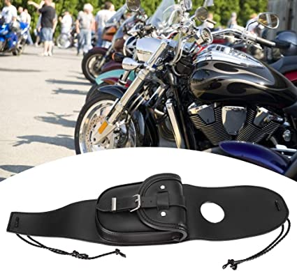 Motorrad Werkzeugtasche Universal Motorrad Tank Tasche Motorrad Schwarz Pu Leder Tankdeckel Abdeckung Mit Beutel Auto