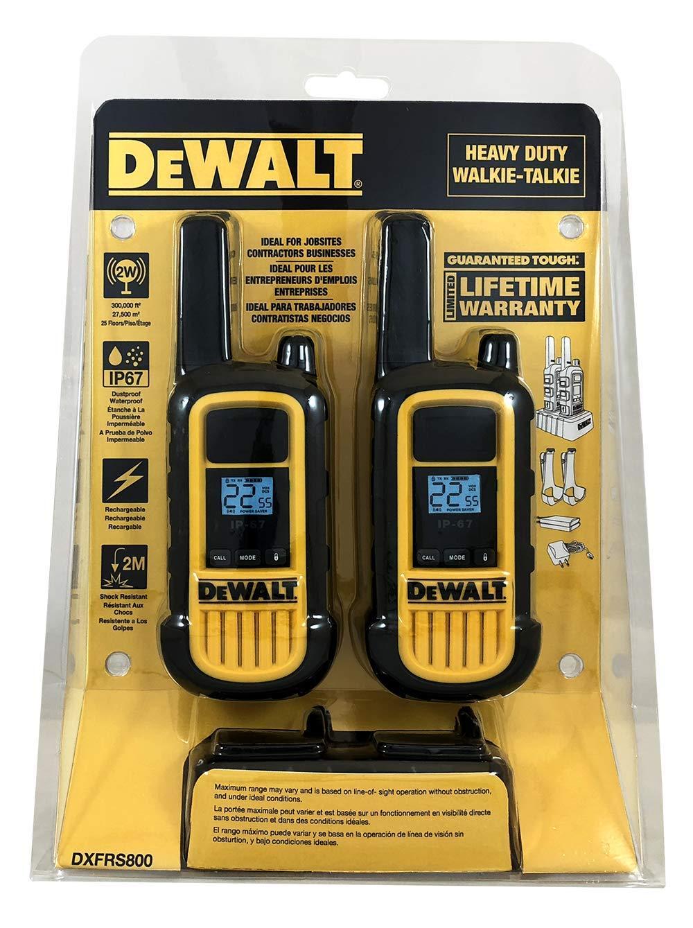 DeWALT DXFRS800 2W Walkie Talkies Heavy Duty Business Two-Way Radios (Pair) by DEWALT (Image #12)