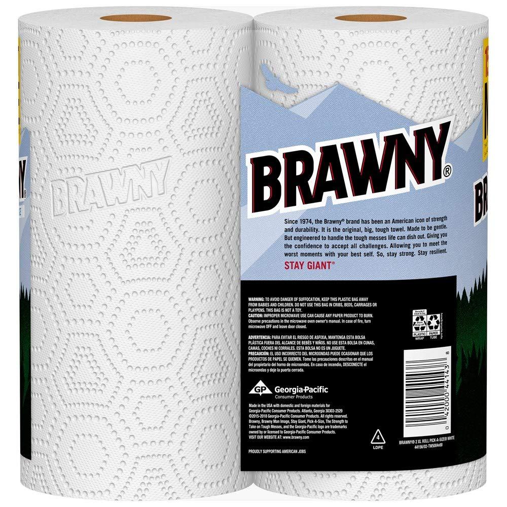Brawny Paper Towels, 16 XL Rolls, Pick-A-Size, White, 16 = 32 Regular Rolls by Brawny (Image #5)