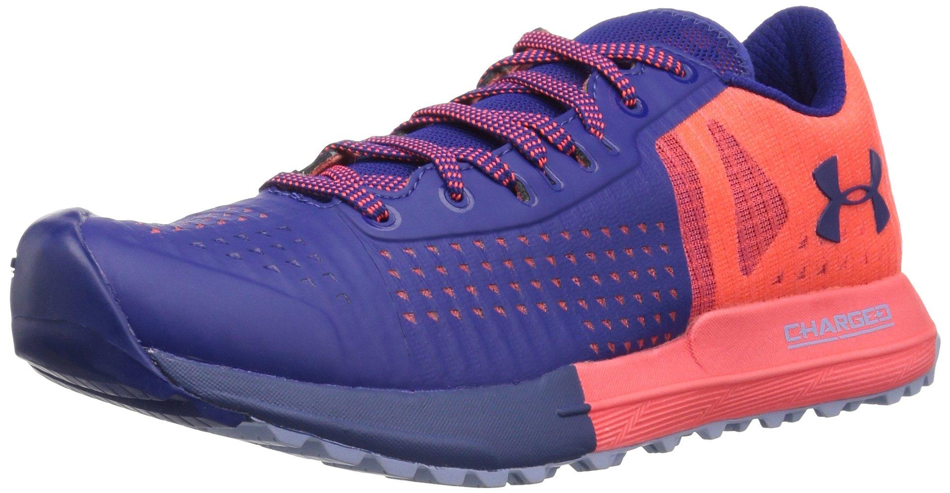 Under Armour Women's Horizon Ktv Running Shoe, Neon Coral (601)/Formation Blue, 8.5