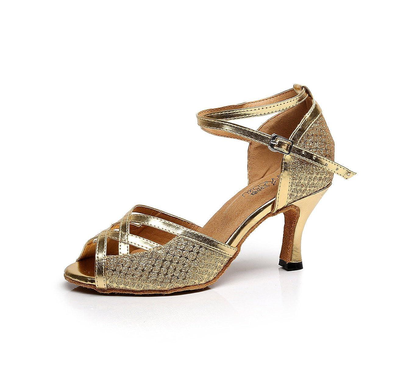 JSHOE Chaussures de Danse pour 19994 B00MY4MVGQ Femmes Latin Salsa pour/Tango/Thé/Samba/Moderne/Jazz Chaussures Sandales Talons Hauts,Gold-heeled8.5cm-UK7/EU41/Our42 - 4dbd072 - gis9ma7le.space