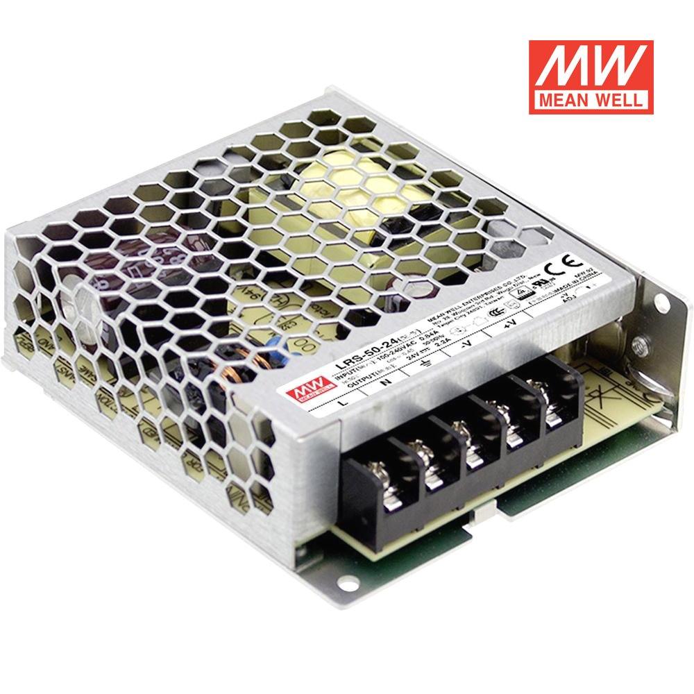 Bloc d'alimentation pour éclairage LED 50W 24V 2A–MeanWell, LRS de 50–24