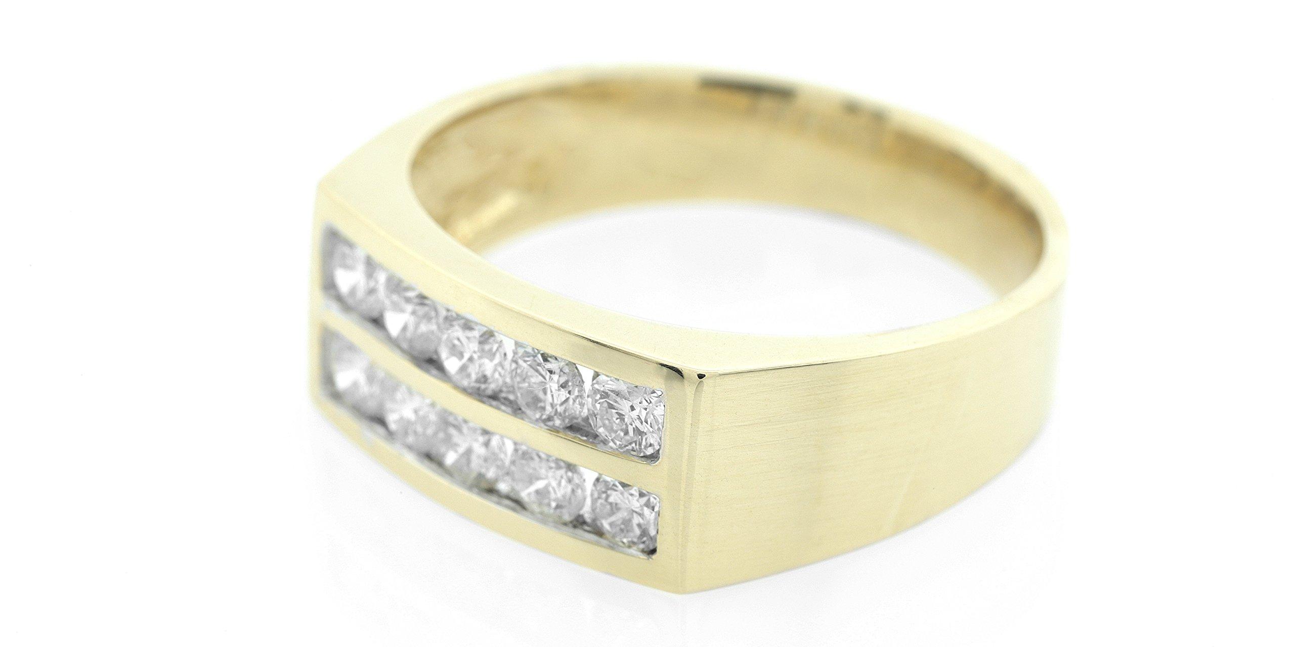 London Fine Jewelry Diamond Double Row Wedding Band in 14K Gold