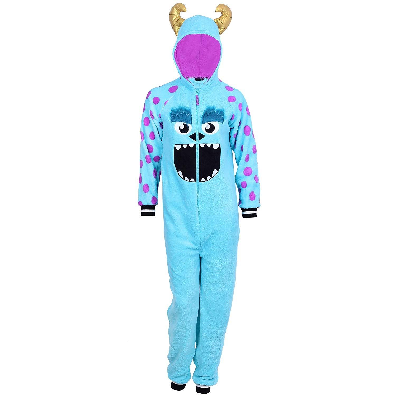 Disney Women's One Piece Pajama Set Union Suit Sleepwear (Sulley Plush, 1X) by Disney