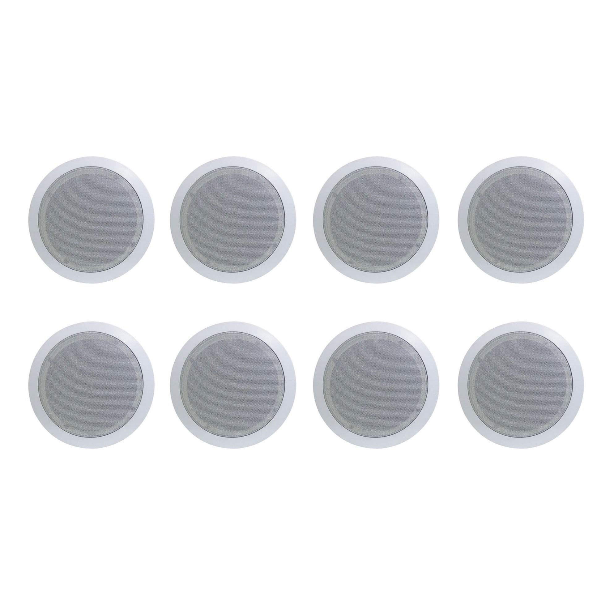 8) New PYLE PRO PDIC61RD 6.5'' 200W 2-Way In-Ceiling/Wall Speaker System White by Pyle Home