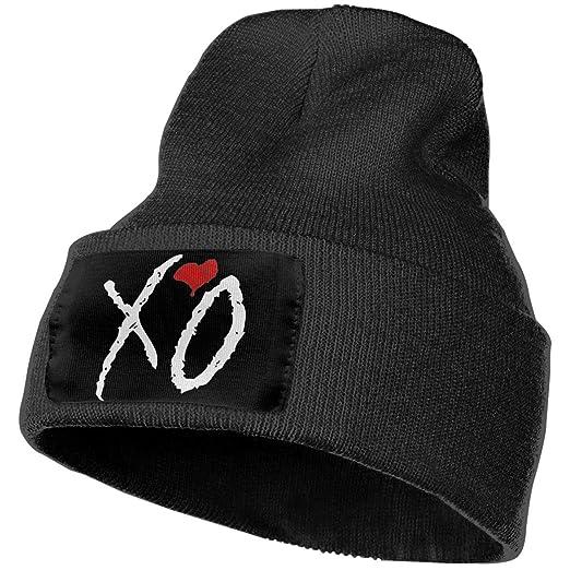 Amazon.com  BXNOOD Mens   Womens The Weeknd XO Skull Beanie Hats ... 6d1c2733ec47