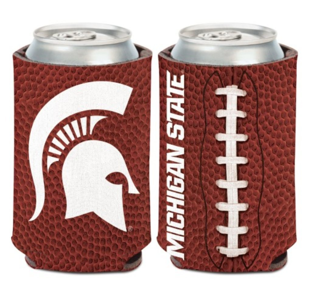 2-Sided Can Cooler WinCraft NCAA Michigan State MSU Spartans 1 Pack 12 oz