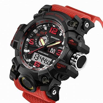 7e8ac497 SANDA Men's Digital Watch Large Face LED Wrist Watches Military Sports  Electronic Quartz Outdoor Stopwatch Alarm Army Watch