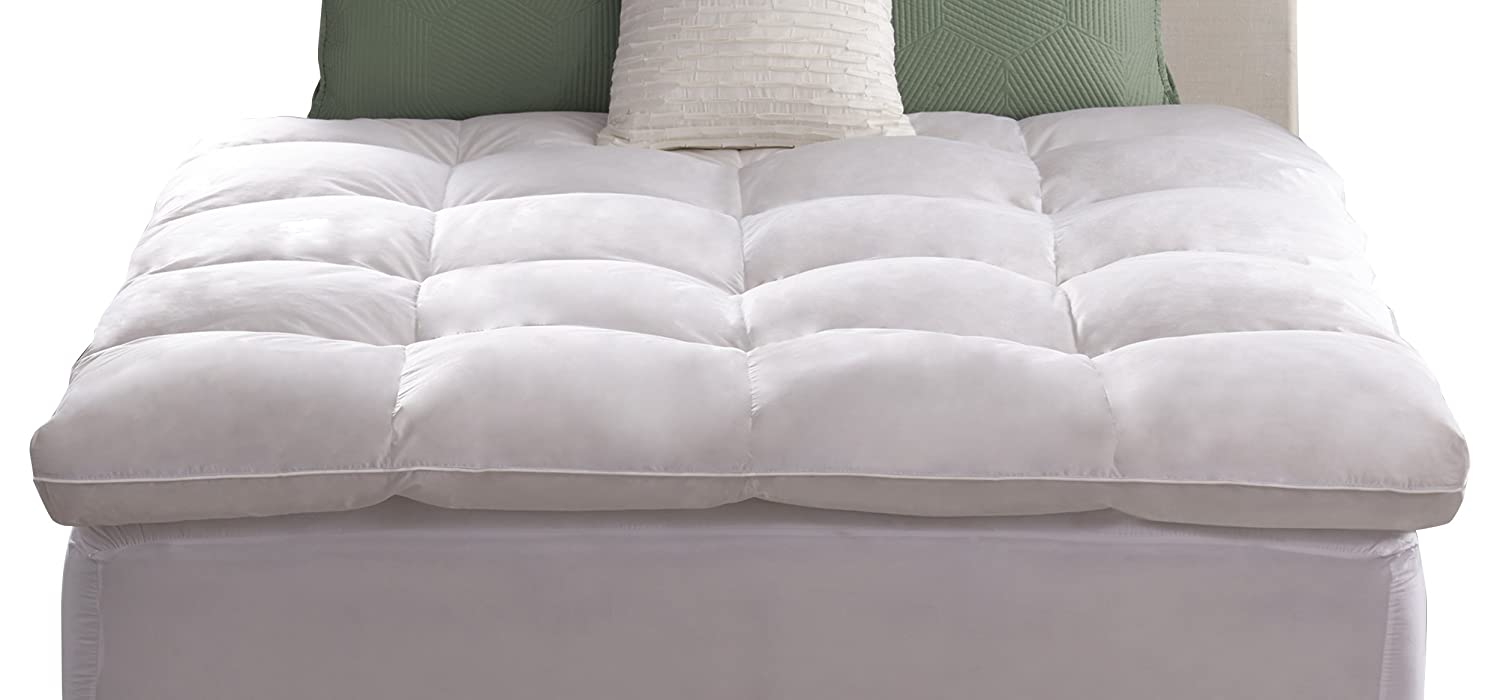 down topped feather new featherbed top bed linen schweitzer