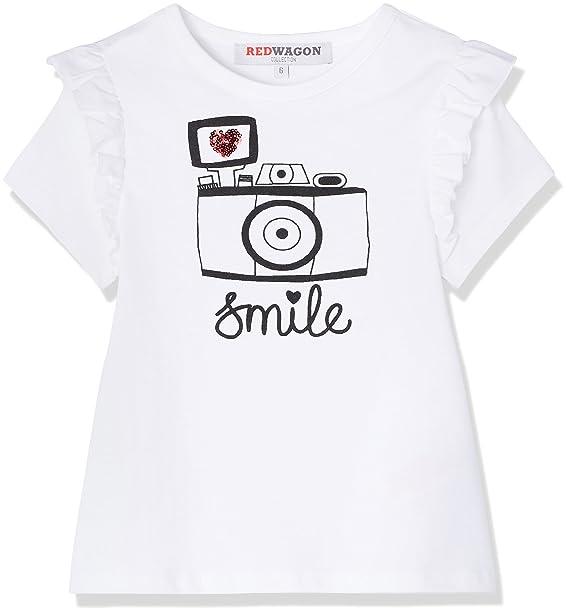 RED WAGON Camiseta con Estampado y Volantes para Niñas  Amazon.es  Ropa y  accesorios 2cc0332516b83